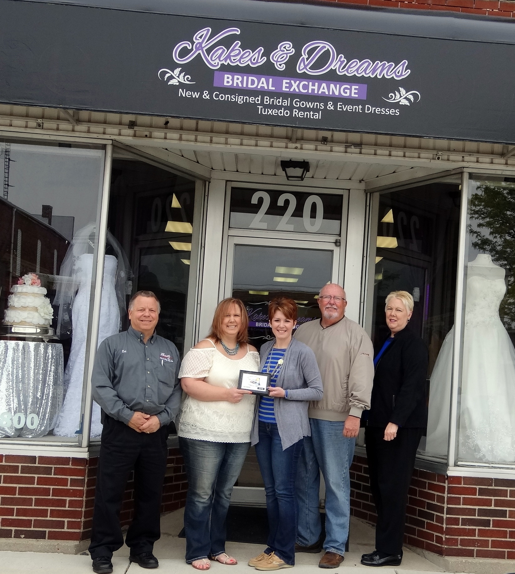 Kakes & Dreams Bridal Exchange LLC Joins Celina Mercer Co Chamber